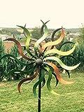 E-X XL Windrad ArtFerro Ibiza Metall 35,5 x 26,5 x184 Garten Windspiel Bunt