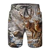 YongColer Men's Real Tree Camouflage Deer Swim Trunks Beach Board...