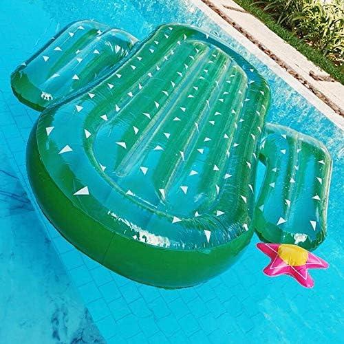 QSBY Kaktus Spielzeug Liege schwimmende Matte Sicherheit langlebiger Pool Schwimmb Pool Meer bequem und interessant Sommer aufblasbare schwimmende Bett m liche Frauen Kinder Grün
