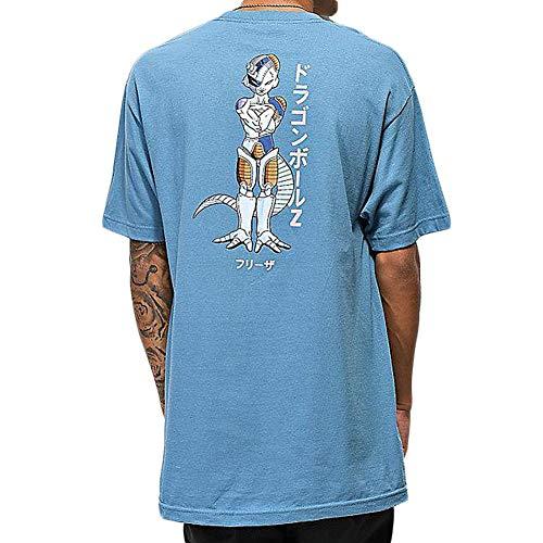 Primitive Skate x Dragon Ball Z Men's Mecha Frieza Short Sleeve T Shirt Slate Blue XL