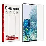 Wonanse Pellicola Protettiva per Samsung Galaxy S20+ [2 Pezzi] [Senza Bolle] [Supporta Il sensore di...