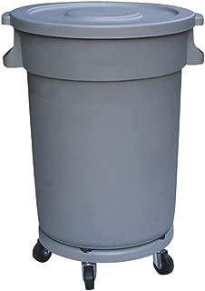 OSCAR Cubo De Basura De Gran Capacidad para Exteriores, De Plástico, con Tapa Redonda, Ruedas, Parque, Cocina,hogar, 80 L / 120 L/ 168L(Gris) (Capacidad : 120L)