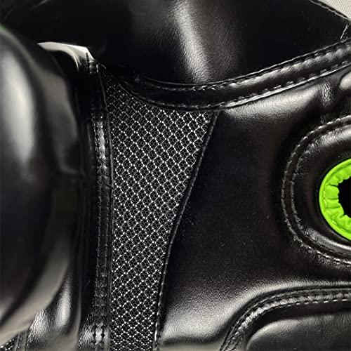 ZBXZM Guantes de Boxeo para niños Hombres Mujeres, MMA Punzonista Bolsa Pesada Kickboxing Muay Thai Sparring Fighting Training Gloves Bolsa de Kickboxing,Negro,12oz