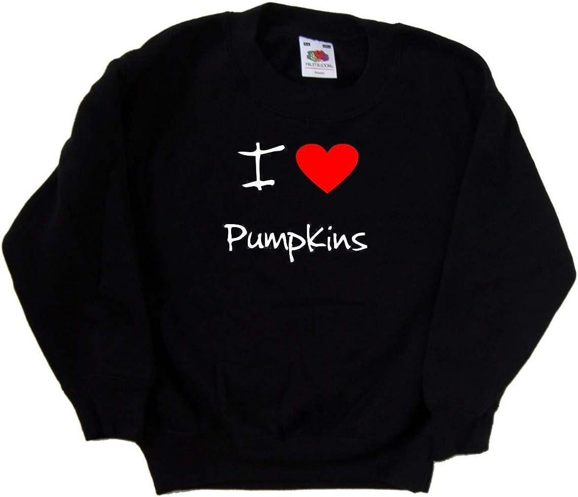 I Love Industry No. 1 Heart Pumpkins Brand new Sweatshirt Kids Black