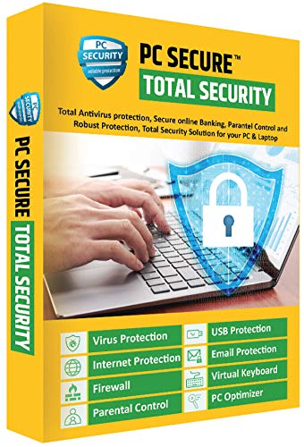 PC Secure Total Security Antivirus for Laptop PC, Latest Version with Ransomware Protection (Email delivery in 2 Hours- No CD)