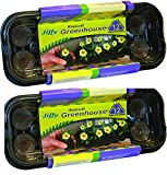 Jiffy J312 12Pel Wndwsll Greenhouse, Mini, Black with Clear Dome(Pack of 2)