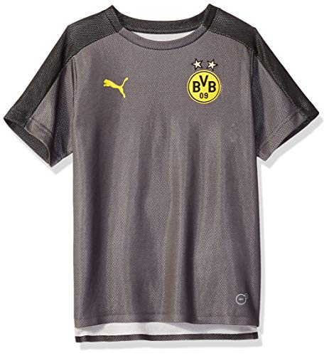 PUMA Youth Borussia Dortmund Licensed Stadium Jersey X-Large, Asphalt/PUMA Black