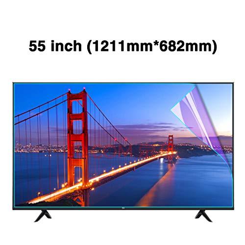 JAY-LONG 55 Zoll Anti-Blaulicht TV Screen Protector/Anti-Glare LED Screen Protector Dateien - Anti-Fingerabdruck-Ölfleck/Radiation Reduction/Augenschutz,A