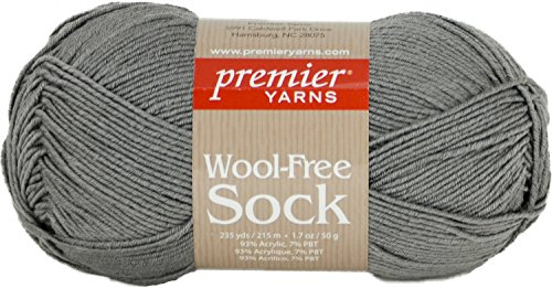 Premier Yarns Gray Wool-Free Sock Yarn