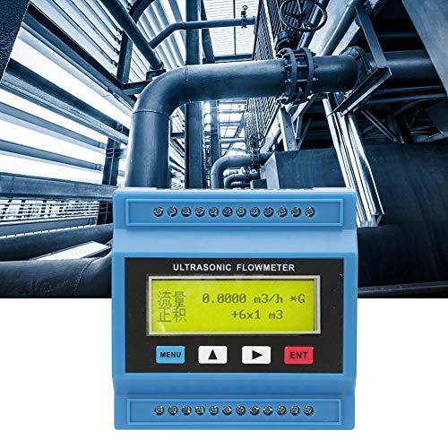 Tragbarer Ultraschall-Durchflussmesser, TUF-2000M DN15 ~ DN100mm OKT-Ausgangs-Ultraschall- / Wärmemodul-Flüssigkeits-Durchflussmesser Mehrkanal-Durchflussmesser-Tester mit 1000 m langer Distanz