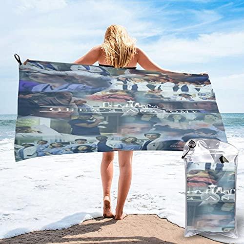 Greys Póster de anatomía grandes toallas de playa de microfibra, toalla de baño de viaje, sin arena, compacto de secado rápido para nadadores, camping, gimnasio, yoga, 80 x 160 cm