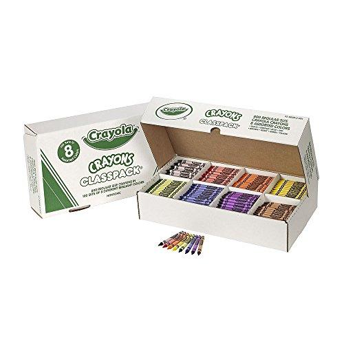 Wholesale CASE of 5 - Crayola 8-Color Classpack Crayons-Crayon Classpack,Regular 3-5/8'x5/16',800/BX,8 Assorted Clrs