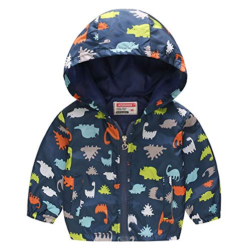 Echinodon Jungen Leichte Jacke mit Kapuze Baby Kinder Windjacke Sweatjacke Frühling Sommer Herbst