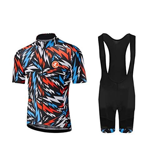 Uglyfrog Rennrad MTB Männer Fahrrad-Club Cycling Team Bekleidung Jersey Shirts Kurze Hosen Set Sportbekleidung DEQTao08