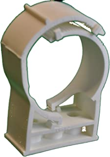 Snap N Strut Qty 12 White PP Pipe Hanger For 3 Inch EMT Conduit And Copper, And Sched 40 Pipe