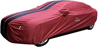 BAOYUANWANG Waterproof Car Cover, All-Weather Dustproof, Windproof and Snowproof Outdoor Car Cover, Custom Fit for NSU
