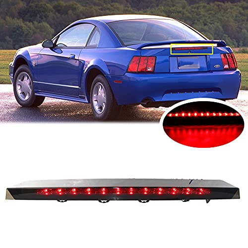 Smoked Lens Red LED 3rd Third Brake Light for Ford Mustang 1999-2004 High Mount...