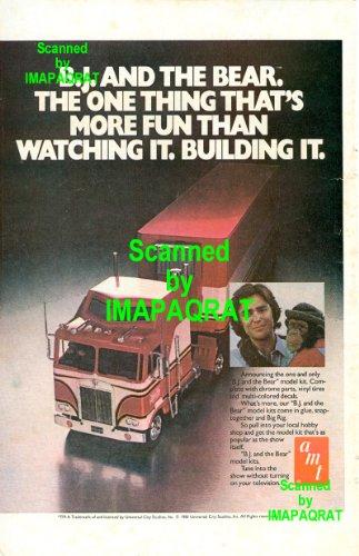 B.J. & the Bear: AMT Truck Model Kit: Greg Evigan: Original 1981 Photo Print Ad
