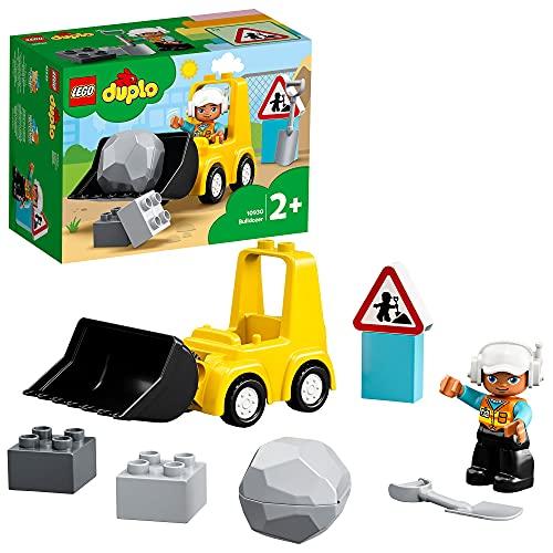 LEGO DUPLO Town Bulldozer, Set con Macchinina da Costruzione per Bimbi dai 2 Anni in su, 10930