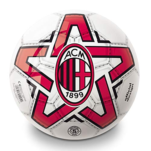 Mondo-3.MO6173 Toys -Pallone da Calcio A.C. Milan Bambino-Colore rosso/nero-06173, Multicolore, Taglia Unica