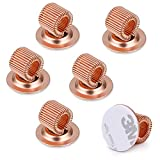 BTSKY 6PCS Stainless Steel Pen Holder Clips- Self Adhesive Pen Pencil Holder Pen Clip Holder with Adjustable Spring Loop Fit any Size Pens Markers Use in Home Office Whiteboard Kitch Rose Gold