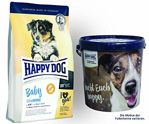 Happy Dog Young Baby Grainfree 1 x 10 kg + Happy Dog Futtertonne 20 Liter