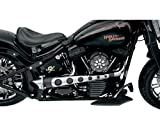 Covingtons True Dual 2:1 Exhaust Black for Harley Softail FXD FXR