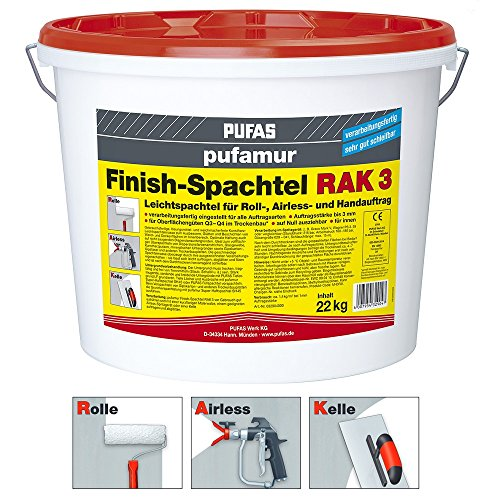 Pufas pufamur Finish-Spachtel RAK 3 - 22kg