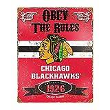Froy Chicago Blackhawks Wand Blechschild Retro Eisen Poster