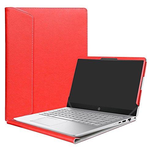 Alapmk Specialmente Progettato PU Custodia Protettiva in Pelle Per 14  HP Pavilion Pro 14 14-bfXXX 14-ceXXX Pavilion x360 14 14-cdXXX Series Notebook,Rosso
