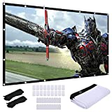 Video Projection Screen 120 inch, Washable 4K Projector Screen 16:9 HD...