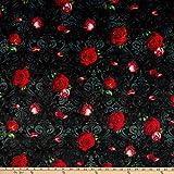 Digitaldruck Minky Madame Victoria's elegante Katzenblumen