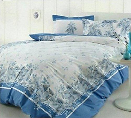 Victoria Turquoise Housse de couette, 100% pur coton Double Taille, 4 pièces Parure de lit de luxe