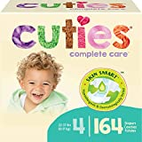 Cuties Complete Care Baby Diapers, Size 4 164 Count