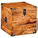 vidaXL Cobija de madera de mango áspero, cajas de almacenamiento de juguetes, baúles para decoración del hogar