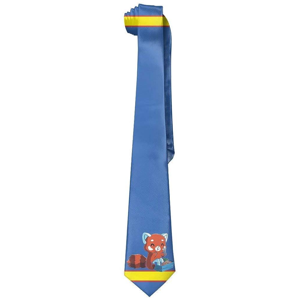 ZOZGETU Necktie, Red Panda Eating Ramen Men's Polyester Silk Wide Ties/Necktie/Necktie Ties pus8110197