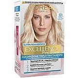 L'Oréal Paris Excellence Crema Colorante Triplo Trattamento Avanzato, 01 Biondo Ultra Chiaro Naturale