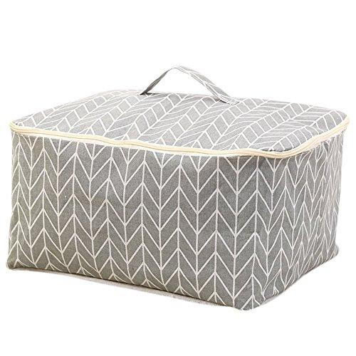 Demarkt–Juego de edredón Bolsa cama escritorio Bolsa de almacenamiento para ropa de cama edredones ropa gris, tela, gris, 47*40*22cm