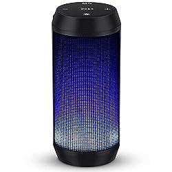 Enceinte Hifi- profitez d'un son 360° et de basses puissantes. Grâce à 2 haut-parleurs antimagnétiques de haute fidélité, donnant un son plus naturel et plus délicat 5 Lumières LED- le haut-parleur existe cinq modes de lumière. Vous pouvez changer la...