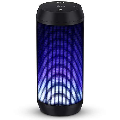 Bluetooth Lautsprecher Musikbox Tragbarer LED Bluetooth Box mit Freisprechfunktion für Handy und PC FM Radio Mikro-SD und USB Kabellos von ELEHOT