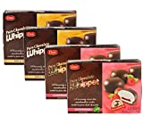 Dare Whippet Pure Chocolate Marshmallow Cookies: Your Choice of Orginal or Raspberry- Four 8.8 oz Boxes (Variety Pack)