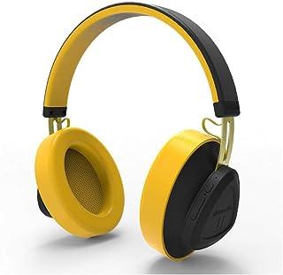 HD Monitor Headset, Wireless Headphone TM Bluetooth 5.0 Headset Over-Ear Monitor Studio Headset for Phone Music Earphone Voice Control,Yellow