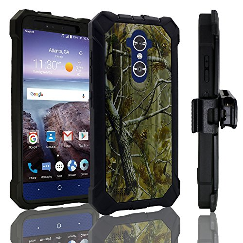 for 6' ZTE Max XL / Blade X Max,Customerfirst, case Phone Case 360° Cover Screen Protector Belt Clip Crystal Holster Kick Stand Shock Bumper (Camo)