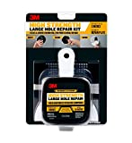 3M High Strength Large Hole Repair Kit with 12 fl. oz Compound, Self-Adhesive Back Plate, Putty Knife and Sanding Pad