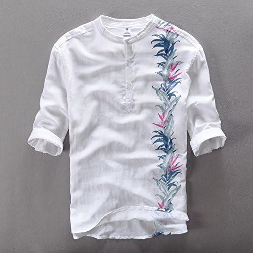 MAYUAN520 Chemises Nouveaux Hommes d'été, Robe Couleur Solide Shirts hauts hauts Chemises Court décontracté Bleu, l'impression de Marque Homme Slim fit Shirts,Beige,XXXL