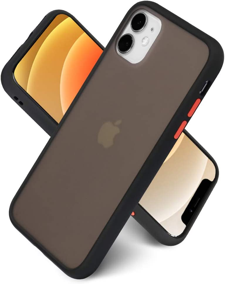 LITTLETREE Compatible with iPhone 11 Case Matte Translucent, Clear Black   Anti-Scratch   Smooth Feel  Slim TPU Silicone Bumper Protective Cell Phone Case 6.1 Inch. (Black)