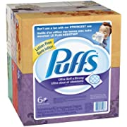 Puffs Ultra Soft and Strong Facial Tissues, Regular Boxes, 408-Count
