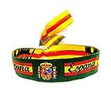 BDM Pulsera de la Bandera de España con el Escudo Nacional y Fondo en Color Verde de la Guardia Civil, es Ajustable y Unisex. Un Regalo Original