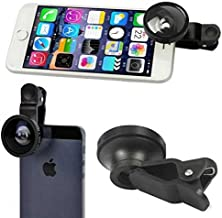 2-in-1 Fisheye Selfie Camera Lens Kit Macro Wide Angle with Clip Attach Black for Huawei Google Nexus 6P - Huawei Mate 9 - Huawei P9 - LG Google Nexus 5X