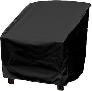 VKTY - Funda protectora impermeable para silla de jardín o patio, resistente a la intemperie, cubierta protectora de tela para exteriores, resistente al polvo, para silla exterior